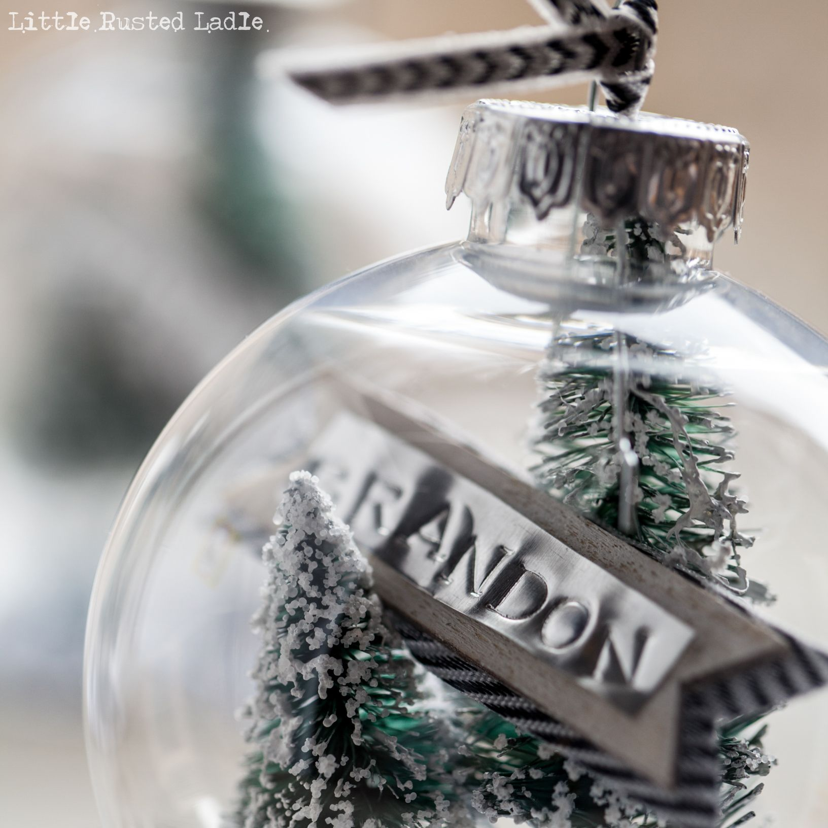 DIY Snow Globe Ornament and Place Cards Globe ornament