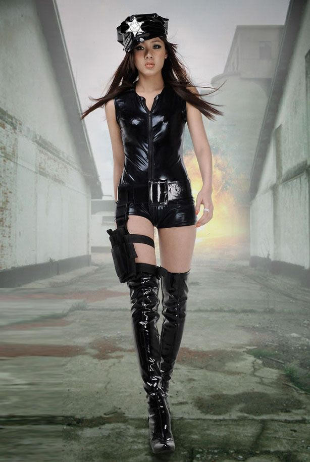 03180e953a3 Aliexpress.com   Buy Free Shipping 2013 Top Sexy Women Night club leather  Fantasy Party Cosplay Costume Policewomen uniform Dress Anime Cost.