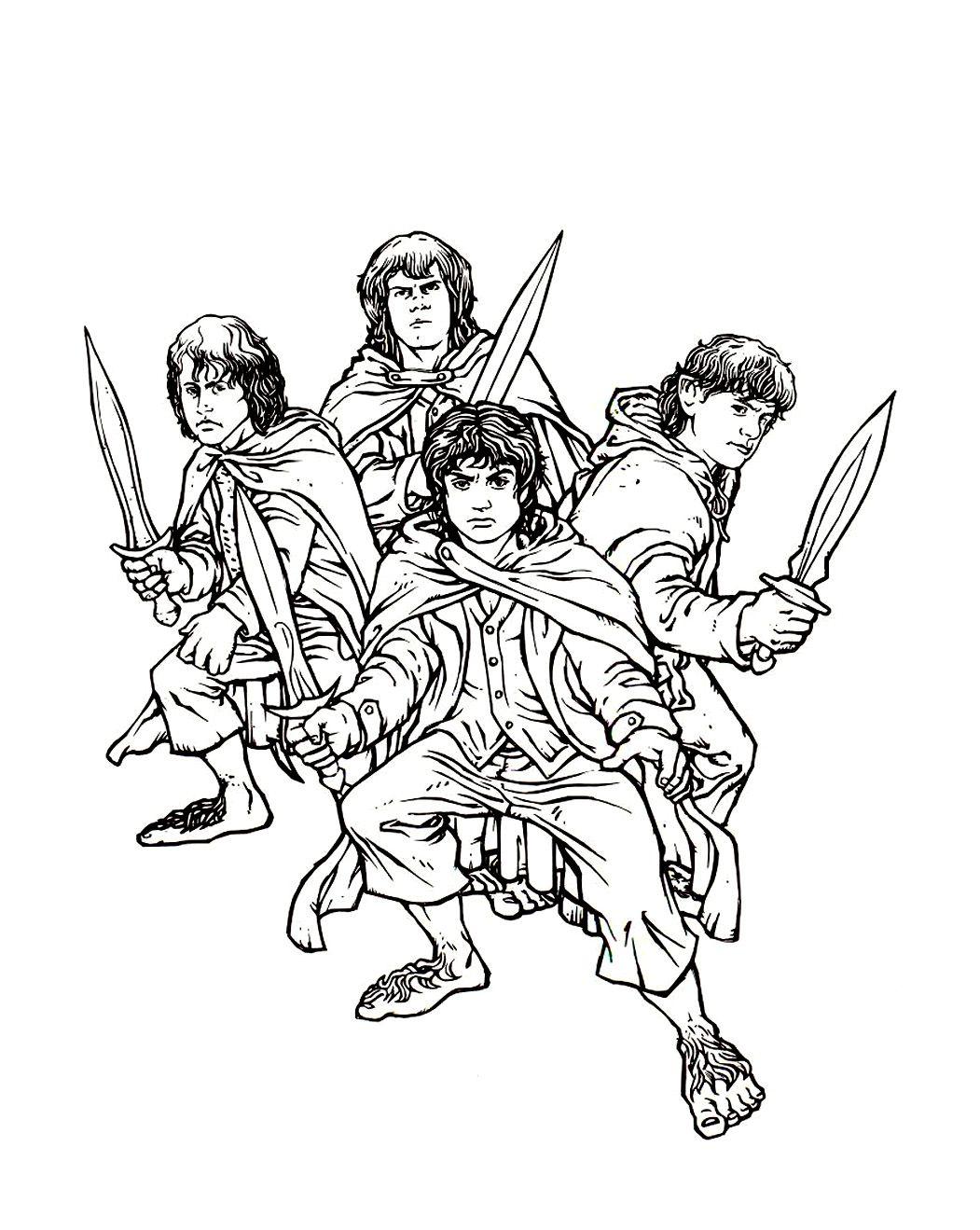 Coloriage Seigneur Des Anneaux Hobbits Jpg 1051 1319 Com