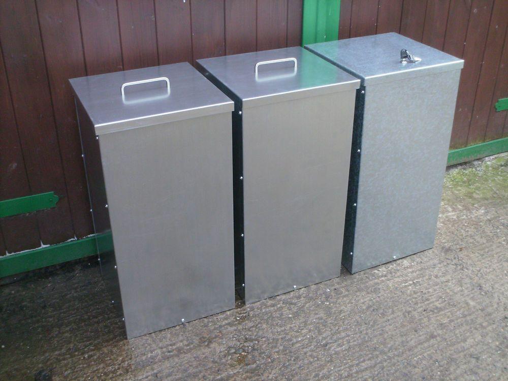 Galvanised Steel Feed Bin Food Storage Horse Dog Chicken Pidgeon