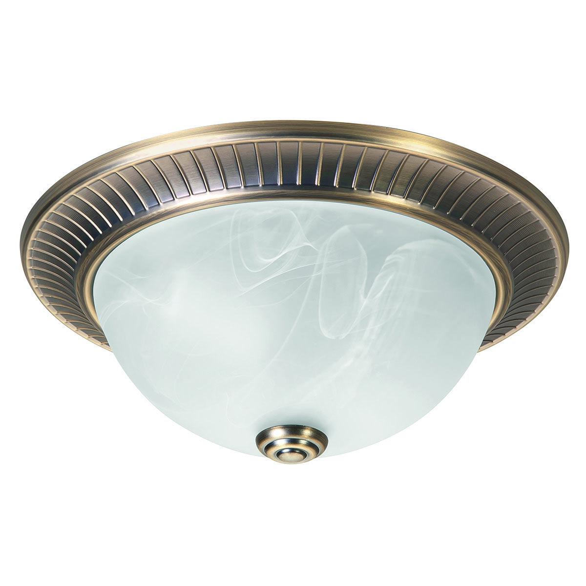 Plafonnier Klassiek2 32 Cm Brons Glasgewolkt Centraaldoos Bevestiging High Light In 2020 Lampen Maken Brons Verlichting
