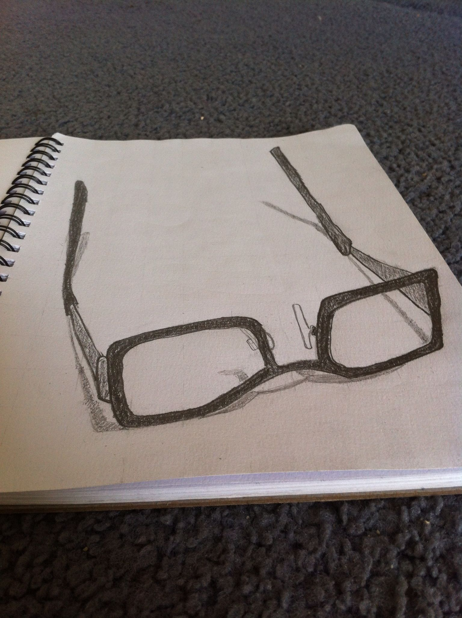 3d sketch of my glasses