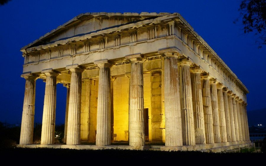 ancient greek architecture Temple of Hephaestus Google Search