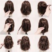 Niedlich, Einfache Zöpfe für Kurze Haare - Nail art