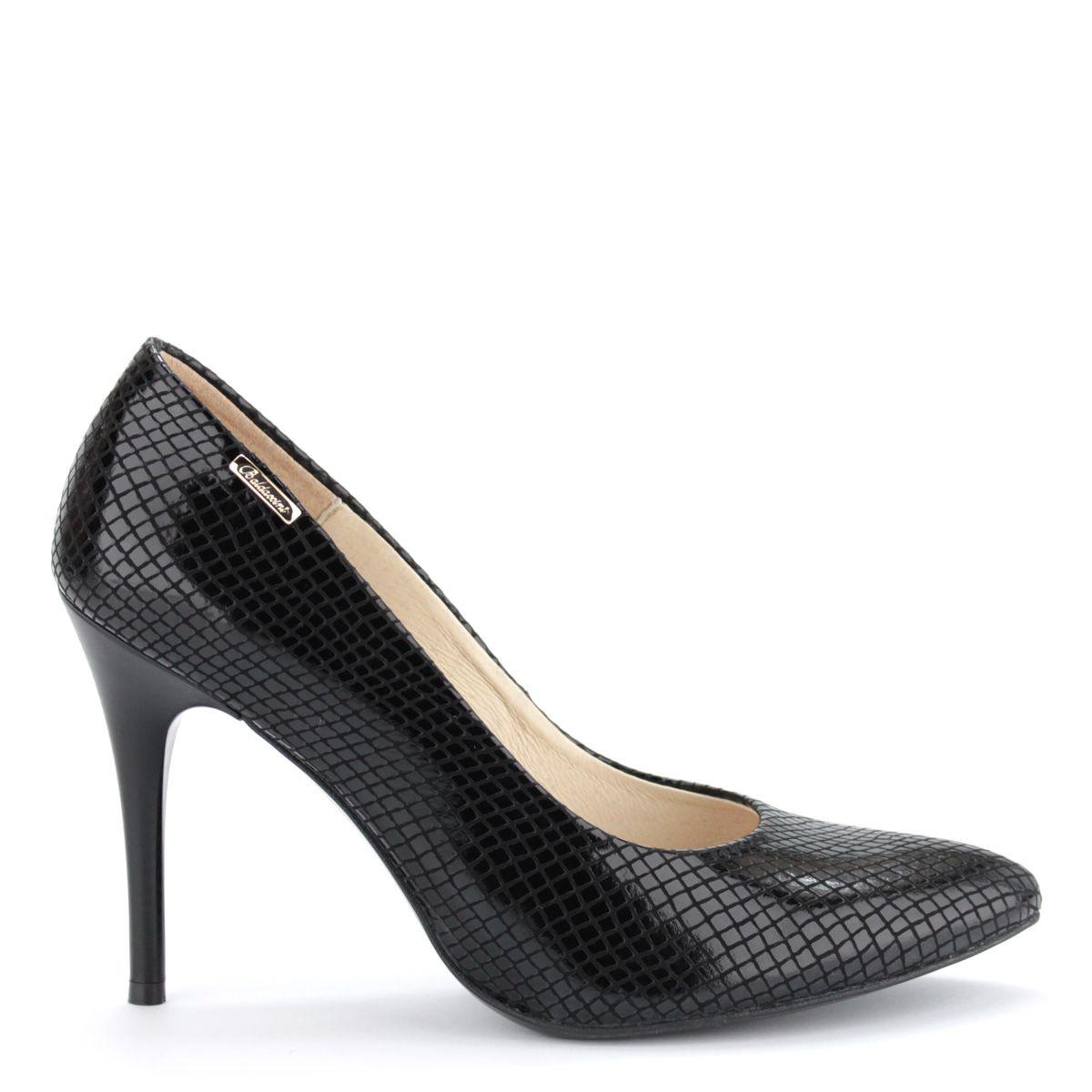 Magas sarkú hegyes orrú női alkalmi cipő 9 cm magas sarokkal ... e9e0579177