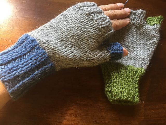 Ravelry: Crazy Simple Gloves on Straight Needles pattern ...