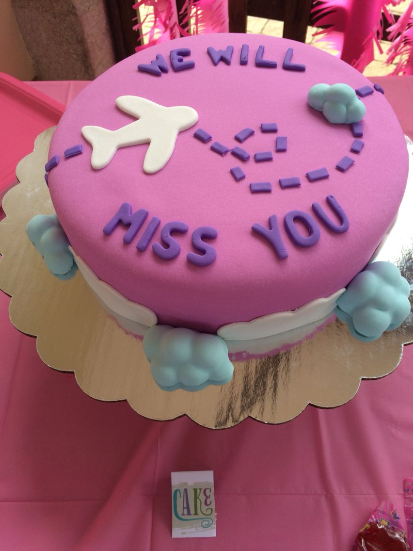 Farewell Party Cake With Images Party Cakes Farewell Cake Goodbye Party