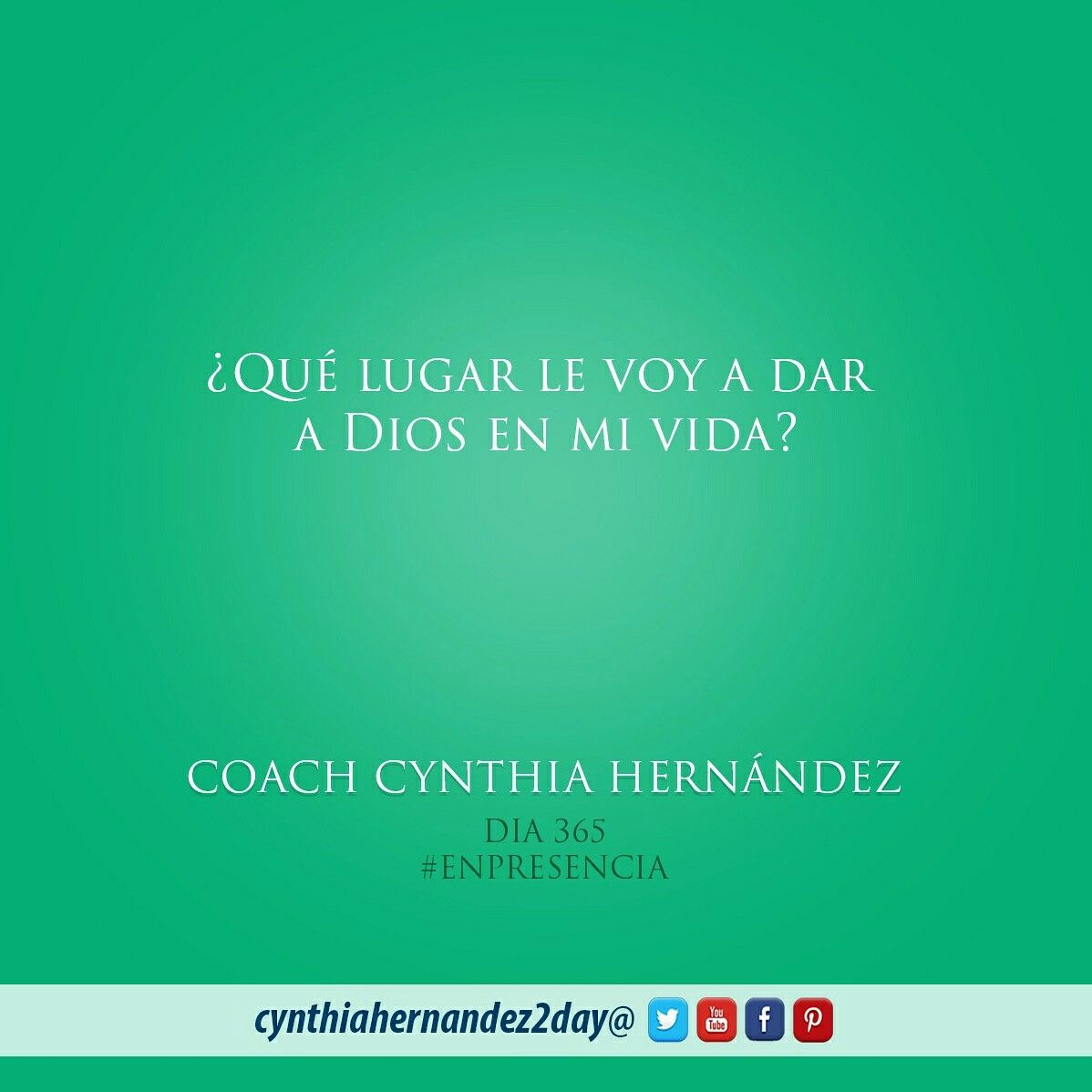 Día 365. En Presencia! PON EN MANOS DEL SEÑOR TUS OBRAS Y TUS PROYECTOS SE CUMPLIRAN. Proverbios 16:3 #2day #coaching #cynthiahernandez2day #enpresencia #instaquote #coaching #godspurpose #change #exito #tupuedes #journeyofachampion #dreams #lifecoaching #life #metas