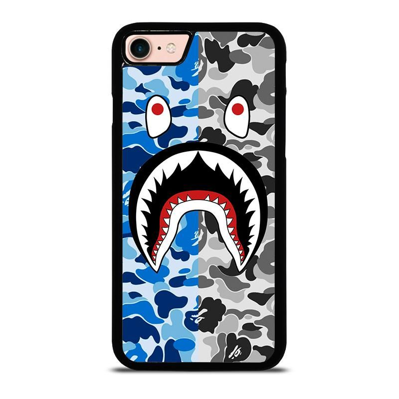 Camo bape shark iphone 8 case cover ipod touch 6 cases
