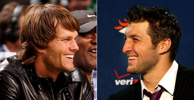 Football doesn't really get better than Tom Brady vs. Tim Tebow in a playoff game!