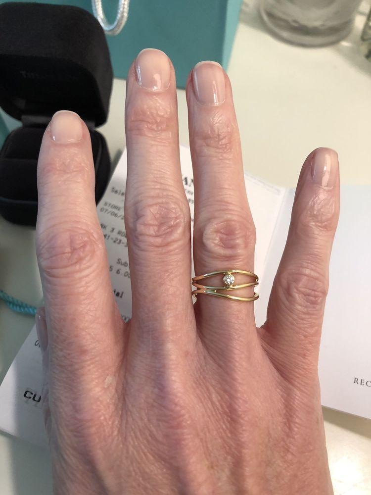 d3db5eaeb Tiffany & Co. 18k 3 Row Wave Diamond Ring Size 5.5 #TiffanyCo ...