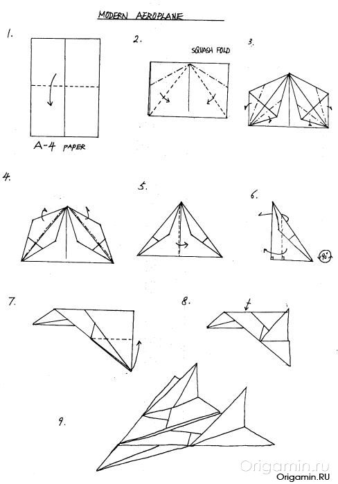 Оригами инструкция самолетов