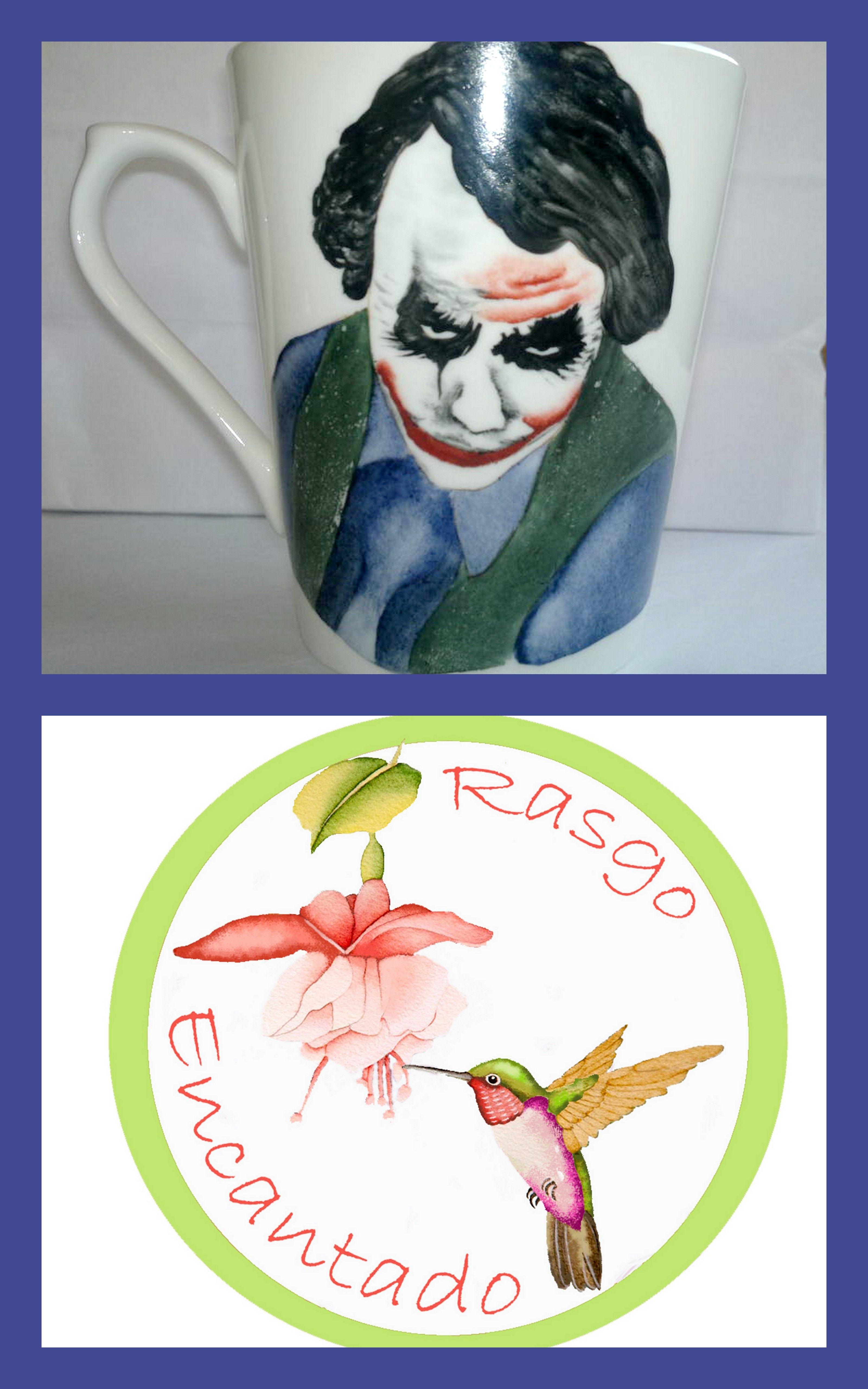 Jarro. Pintura sobre porcelana