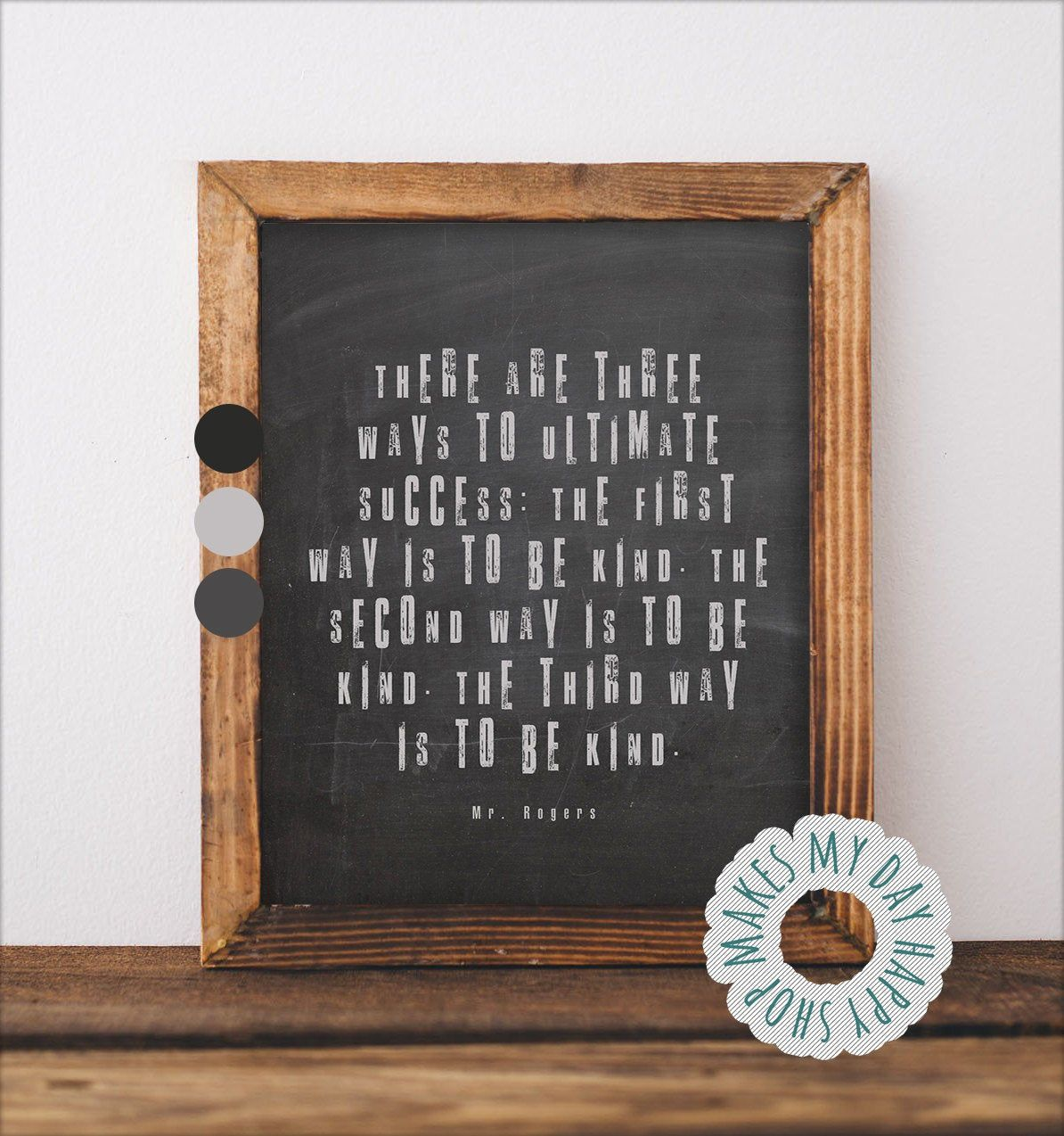 Mister Rogers Quotesbe Kind Printablehow To Etsy Chalkboard Wall Art Mr Rogers Scrapbook Cover