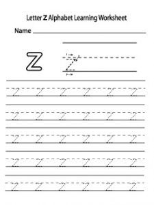 Small Letter A To Z : small, letter, Lowercase, Letter, Worksheet, Printable, Preschool, Kindergarten, Lower, Letters,, Lettering