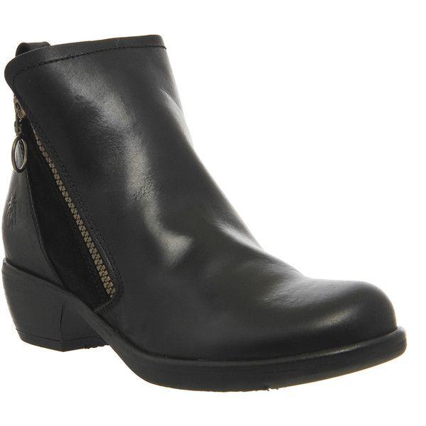 Femmes Fly London Seti Chaud compensé Zip Classique Chaussures Motard Doublé Bottes Toutes Les Tailles-afficher le titre d'origine