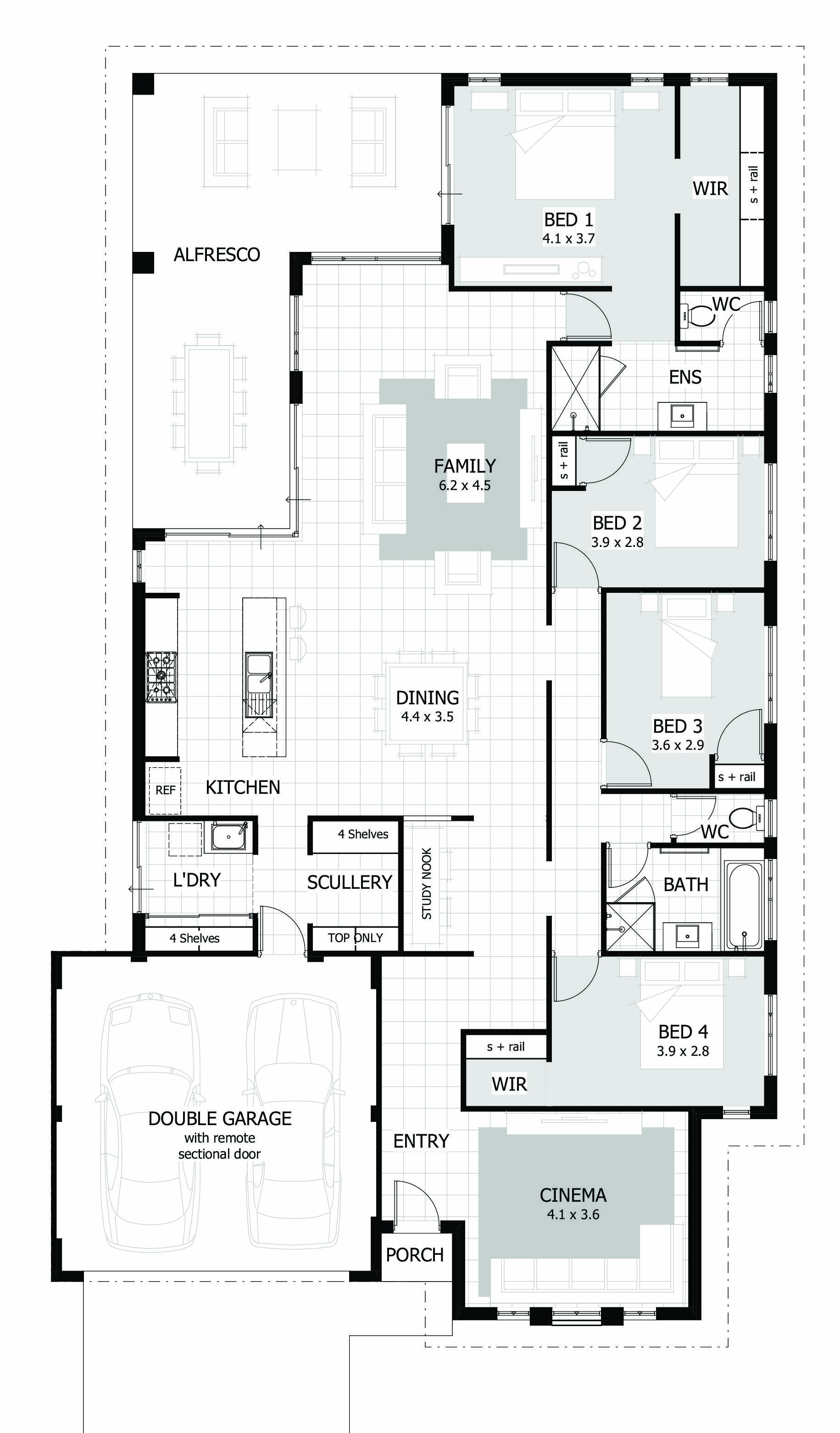 4 Bedroom House Plans & Home Designs Celebration Homes