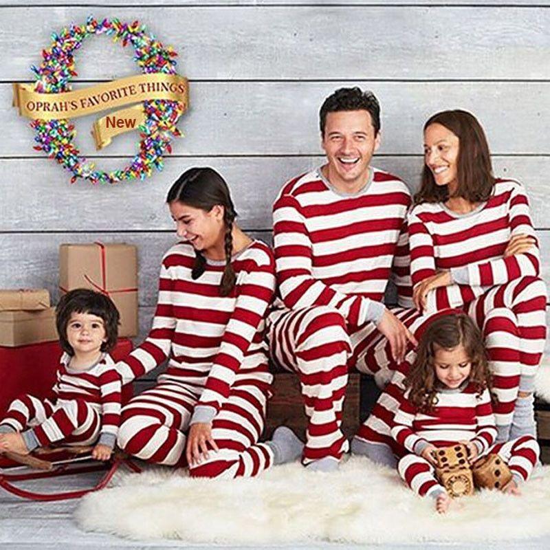 Details about Christmas Pajamas PJs Sets Xmas Family Clothes Set