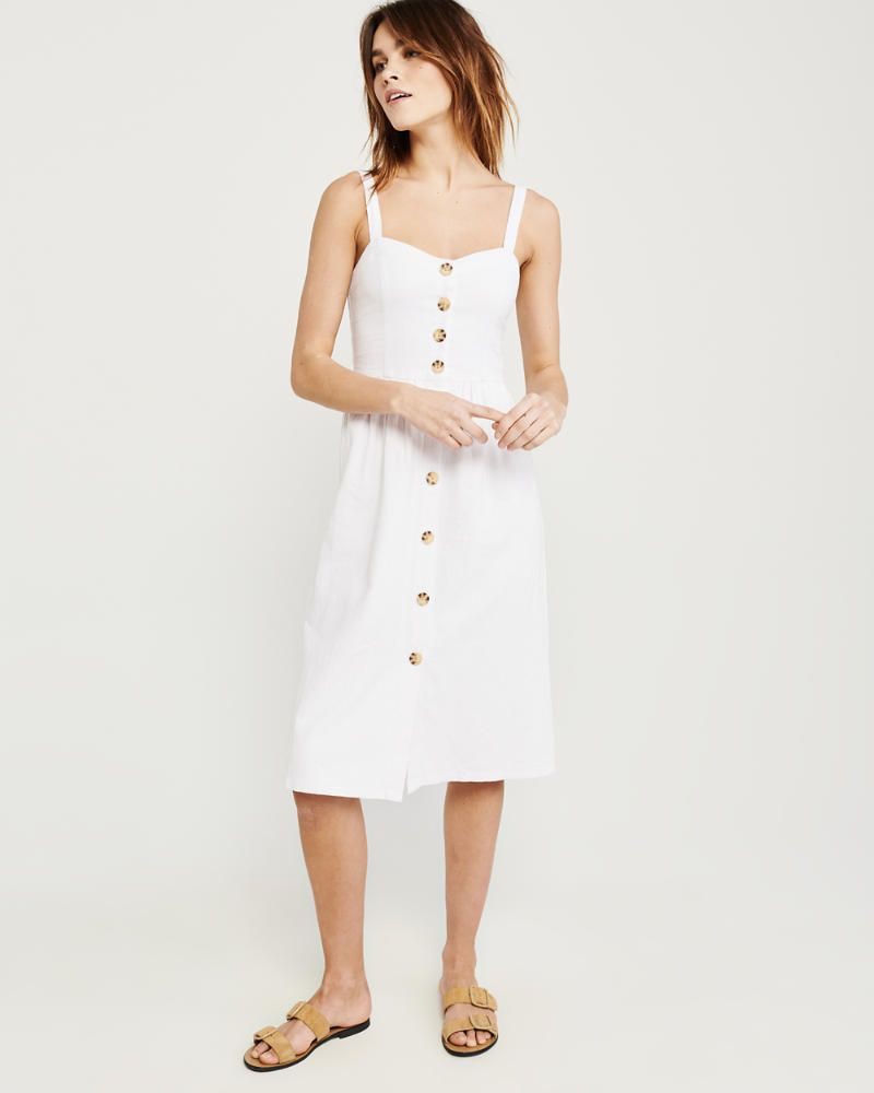 Womens Button Up Cami Midi Dress Womens 50 Off Throughout The Store Abercrombie Com Cami Midi Dress Jumpsuit Dress Dresses [ 1000 x 800 Pixel ]