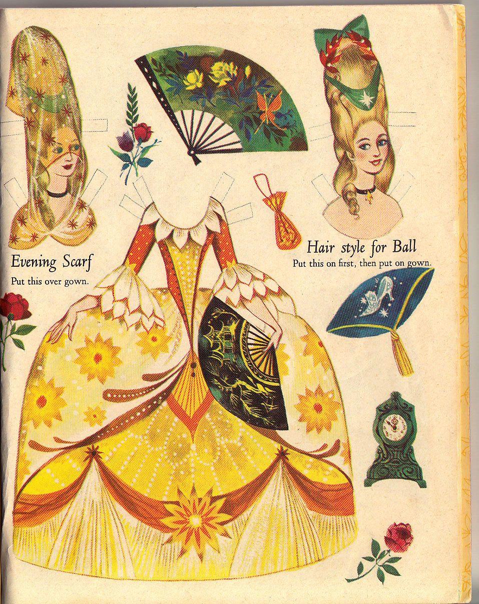 little golden book cinderella paper dolls by gordon laite | nouvellegamine