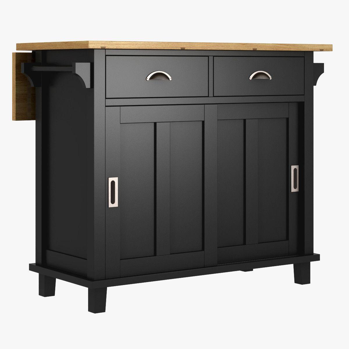 Belmont Black Kitchen Island 3d Max Belmont Kitchen Island Furniture 3d Models Pinterest