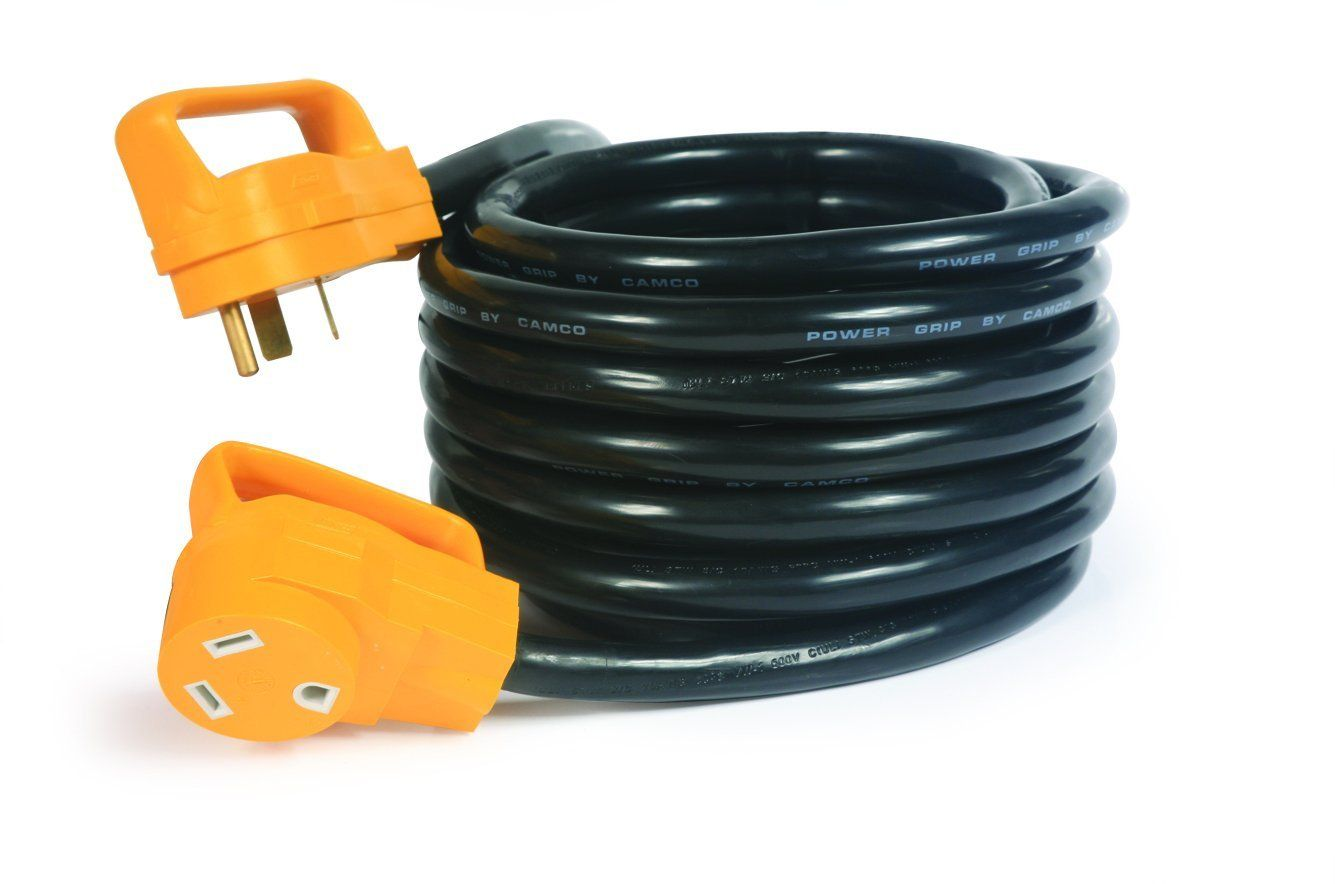 Camco 55195 Rv 30 50 Amp Male And 50 Amp Female Powergrip Extension Cord Walmart Com In 2020 Camco Rv Parts And Accessories Outdoor Extension Cord
