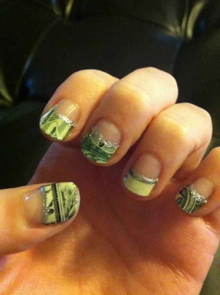 Money Nail Design Nails By Me Pinterest