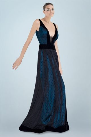 Bewitching Plunging Neckline A-line Evening Dress with Tulle All-over