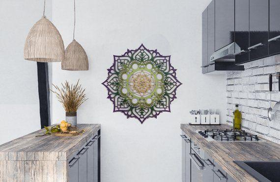 Mandala Wall Decor Home Decor Wood Decor Housewarming Gift