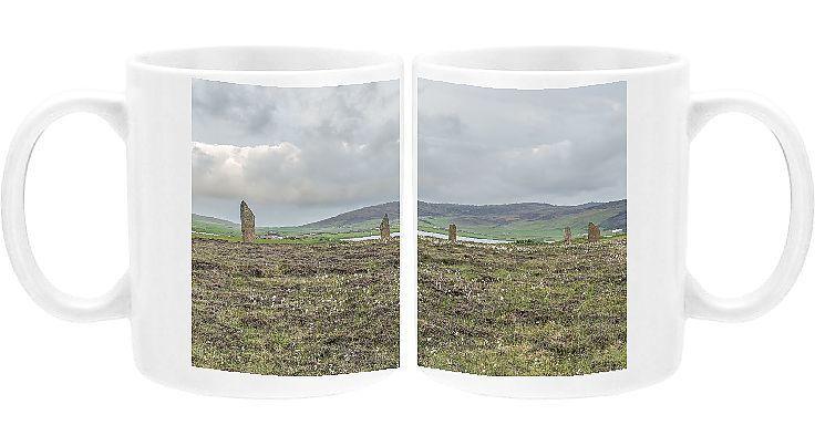 Photo Mug-Ring of Brodgar, Orkney Island, Scotland, UK-Ceramic dishwasher safe mug made in the UK