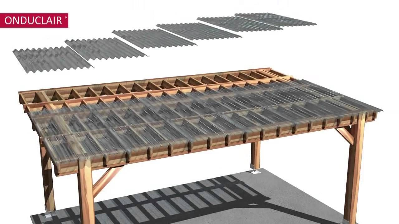 Onduclair Corrugated Plastic Sheets Pergola With Roof