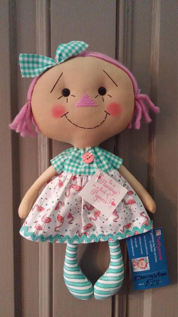 Flamingo raggedy ann doll | Kuscheltiere, Puppen und Nähen