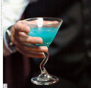 Something Blue: What You Need  Lemon wedge Sugar for rim 2 oz. blueberry vodka 1 oz. Hpnotiq 3/4 oz. lemon juice 1/2 oz. simple syrup*