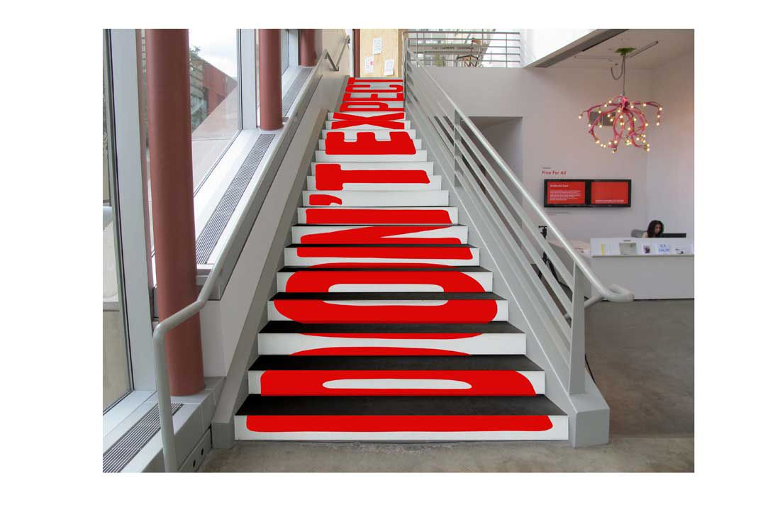 Best Typography Stairs By Graphic Designer Stefan Sagmeister At 400 x 300