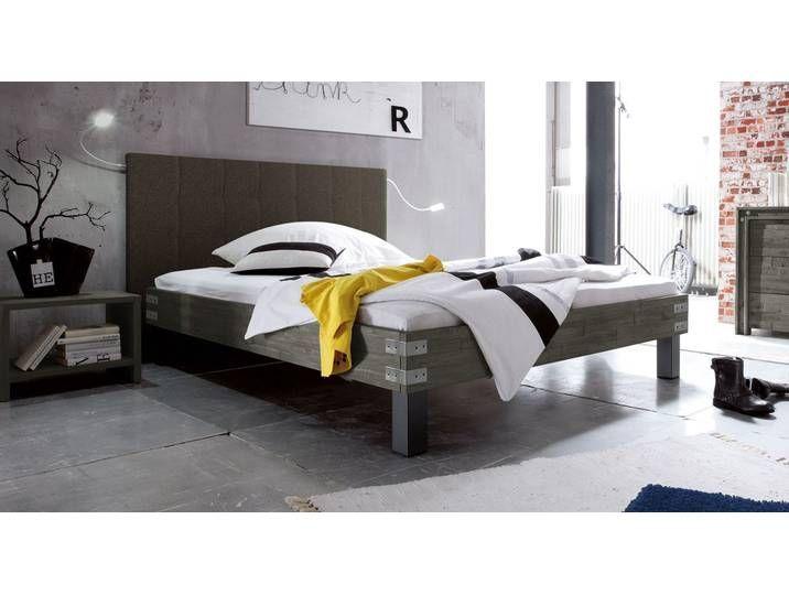 Massivholz Doppelbett Talca – 140×200 cm – Akazie grau – Massivholzbet