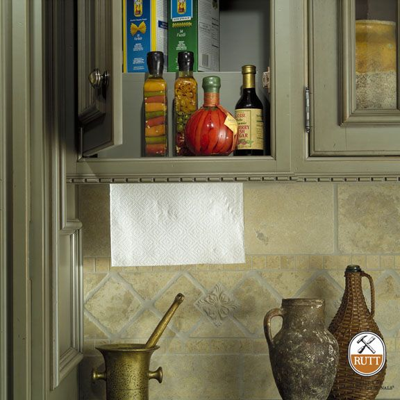 Rutt Handcrafted Cabinetry Paper Towel Storage Cabinetry Wall Cabinet