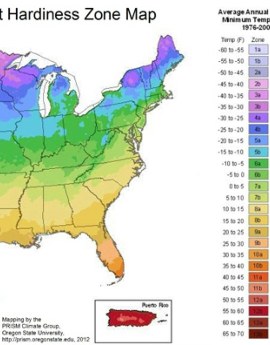 Zoomable East US Plant Hardiness Zone Map Httpplanthardiness - Us hardiness zone map
