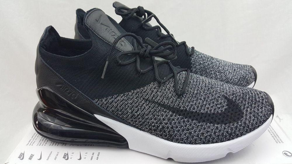 Nike Air Max 270 Flyknit Oreo Black White Running Trainer AO1023-001 Size  11  Nike  RunningCrossTraining 5b79892ab