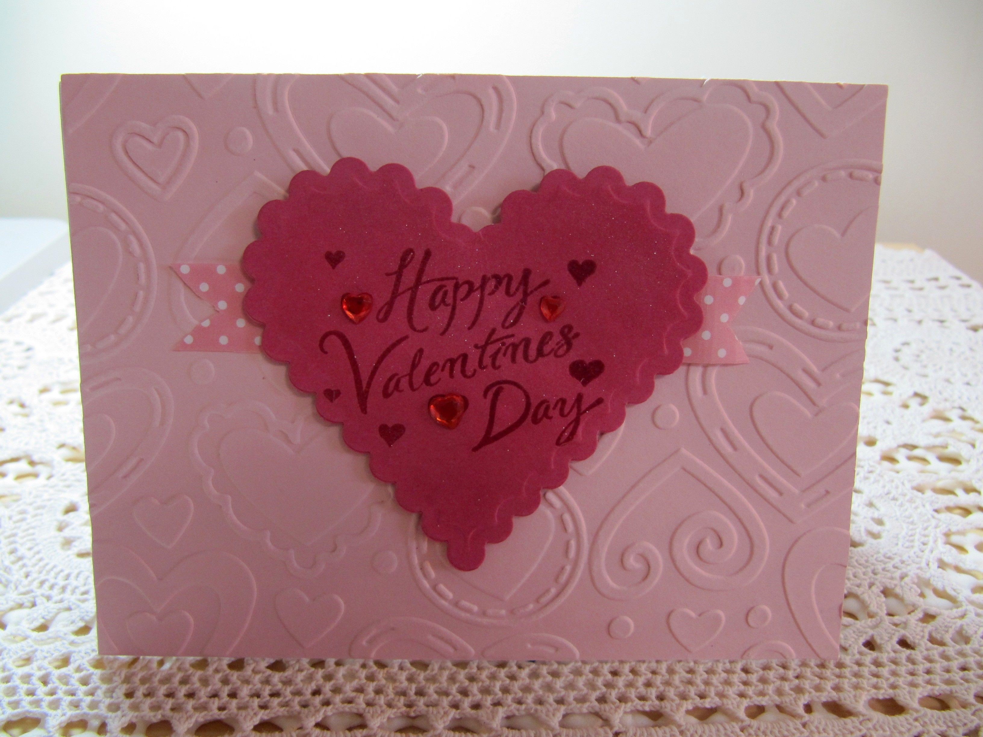CAS card- SU blushing bride c/s is embossed using Darice layered ...
