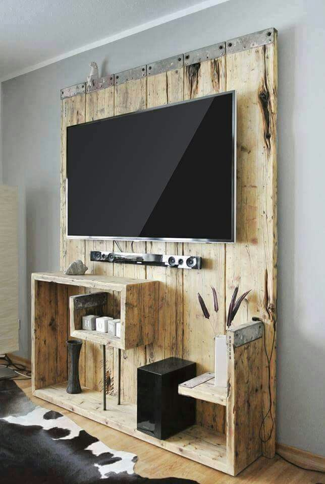 Pin de Andrea Samples en Wall Decor | Pinterest | Palets, Tv y Mueble tv