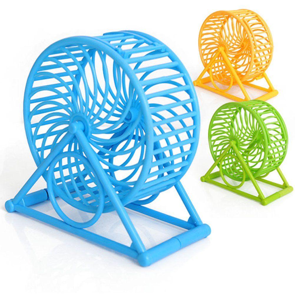 Ueetek Hamster Silent Exercise Wheel Plastic Jogging Running Toy