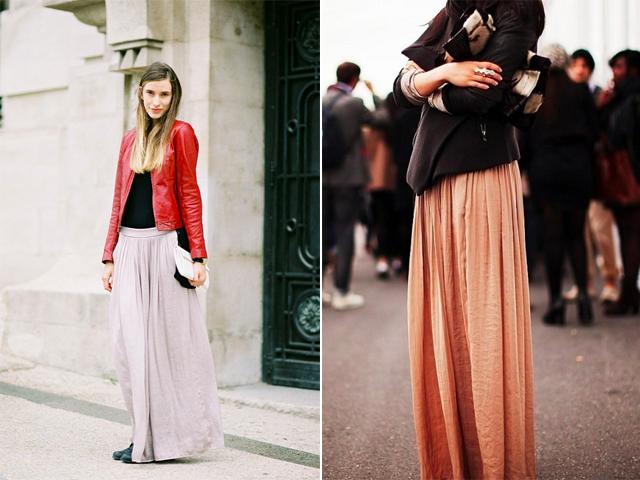 86db6b624d1ad5 Comment porter une jupe longue en hiver | Fringues | Jupe, Comment ...