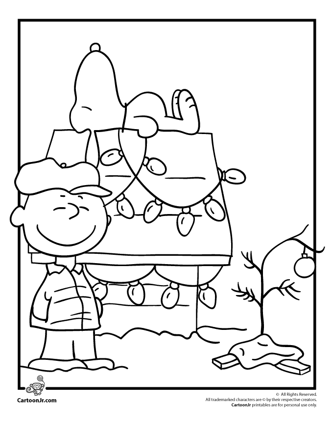 Charlie Brown Christmas Coloring Page with Snoopy | Pinterest | Bebe