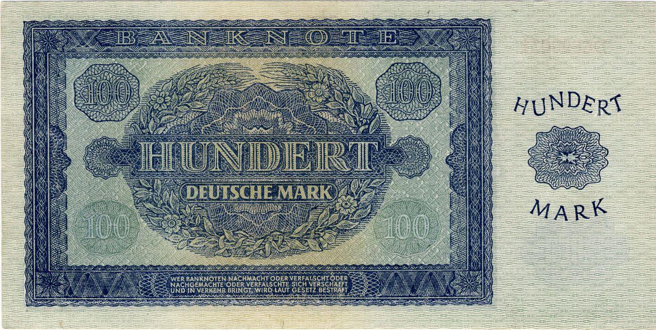 100Mark1948b.jpg Ostdeutschland, Deutsche mark, D mark