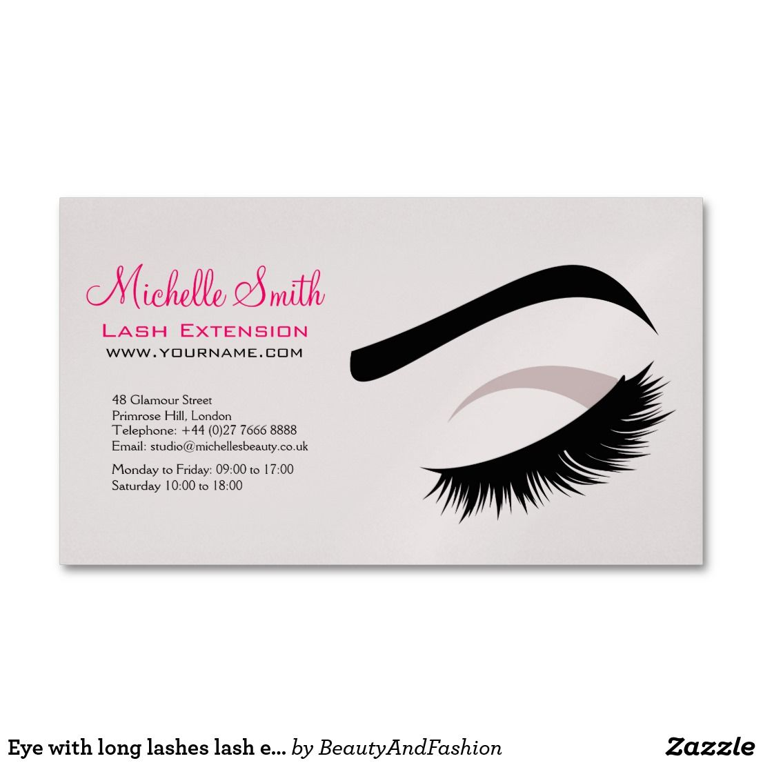 Eye with long lashes lash extension branding