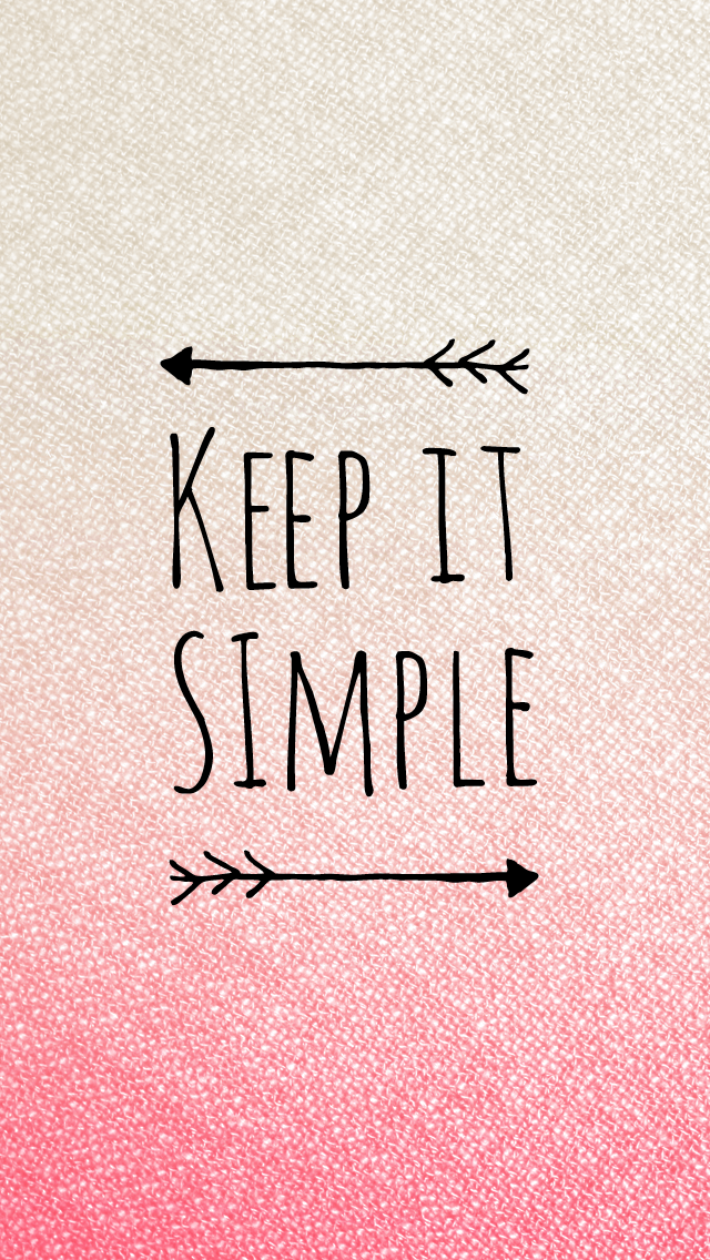 Keep It Simple Pink Quote Iphone Wallpaper Panpins Fondos Restaurantes Madrid
