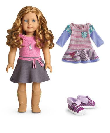 Love this Light Skin, Curly Red Hair, Blue Eye 18'' Doll & Outfit Set on #zulily! #zulilyfinds