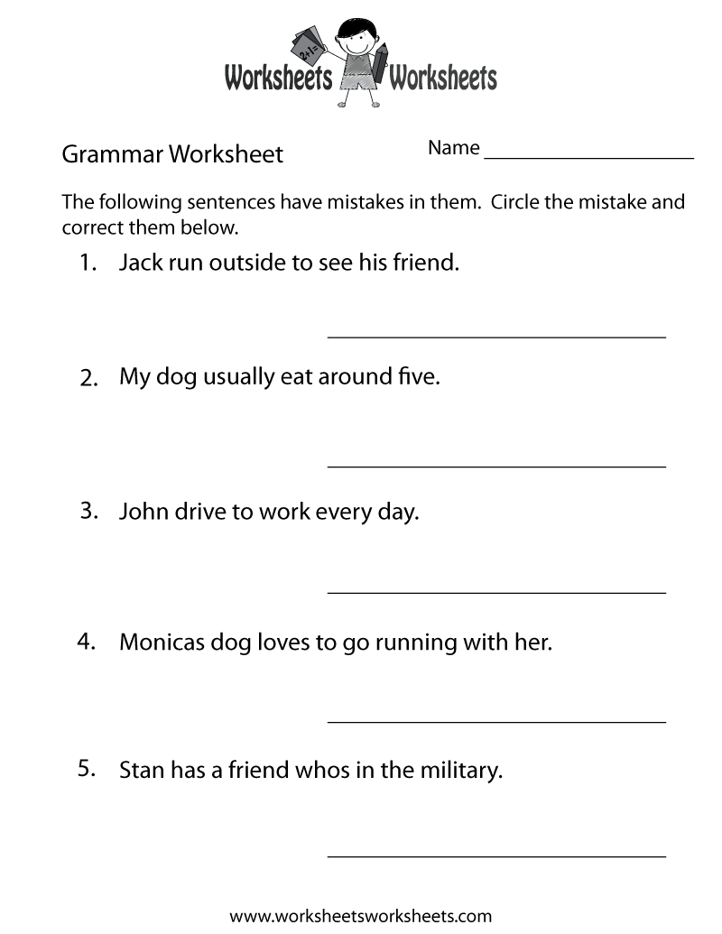 photograph regarding Printable Noun Worksheets known as Grammar Educate Worksheet Printable Grammar Worksheets