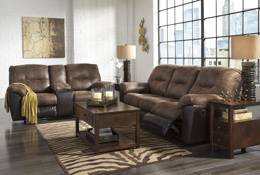 Follett Contemporary Coffee Color Faux Leather Reclining Sofa And Loveseat A Clic Split Personality The Overstuffed