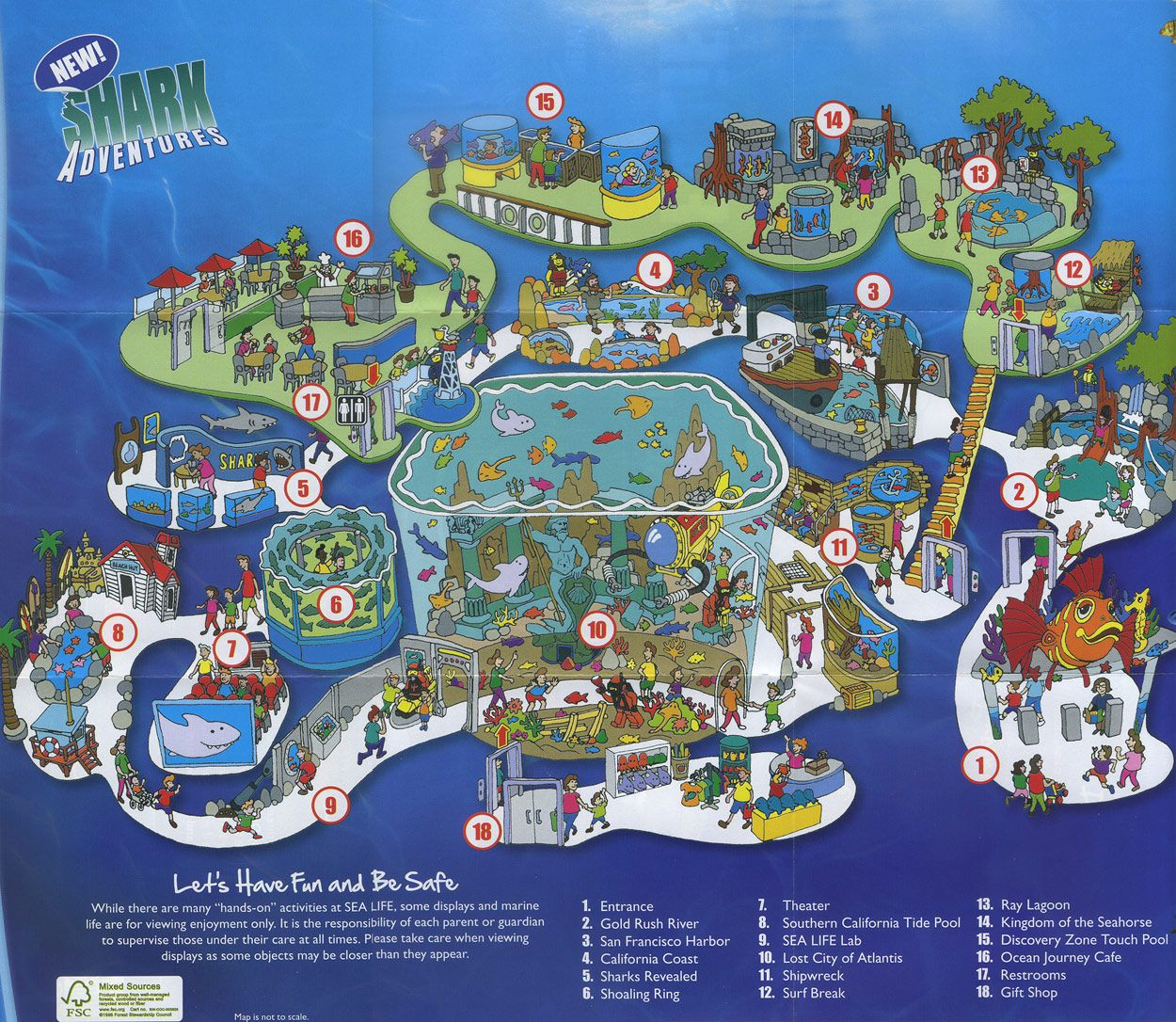 Sea Life Aquarium 2011 Map Maps For Kids Pinterest